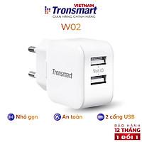 Củ sạc 2 cổng USB Tronsmart W02 công nghệ VoliQ 12W dòng 2.4A - Hàng chính hãng