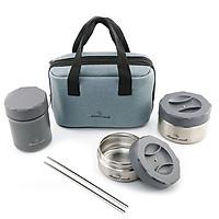 Bộ Hộp Đựng Cơm Inox 304 Lunch Box Elmich Smartcook 3956