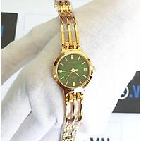Đồng hồ nữ Halei dây lắc 5010L dây vàng mặt xanh lá cây