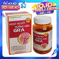 Hoạt huyết dưỡng não GRAE của Vioba. Bổ sung Coenzyme Q10 giúp ổn định tim mạch, tăng cường tuần hoàn máu não và ngoại vi. Hỗ trợ điều trị chứng sau tai biến, giảm đau đầu, chóng mặt, rối loạn tiền đình, mất ngủ, mệt mỏi, suy giảm trí nhớ. Lọ x 100 viên.