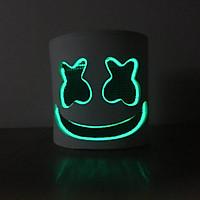 Mặt Nạ Hóa Trang DJ Marshmello Có Đèn Led