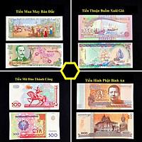 Combo Thành Công 4 tờ tiền phong thủy - Mua May Bán Đắt - Thuận Buồm Xuôi Gió - Mã Đáo Thành Công - Phật Bình An - tặng kèm bao lì xì - The Merrick Mint