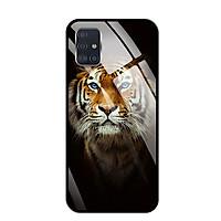 Ốp lưng kính cường lực cho Samsung Galaxy A51 - 03094 0300 TIGER03 - Hàng Chính Hãng