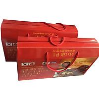 Combo 2 hộp nước hồng sâm Linh chi Táo đỏ Hàn Quốc-Red Ginseng Lingzhi Jujube Gold 30 gói x 80ml, nước sâm bịch, nước sâm,(KM 1 hộp dầu lạnh Glucosamine)