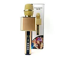 Mic Karaoke Bluetooth Cao Cấp GUTEK SD19 Kèm Loa Bass Không Dây, Mic Hút Giọng Âm Thanh Trong Ấm Vỏ Kim Loại Sang Trọng, Hỗ Trợ USb, Cổng 3.5, Thẻ Nhớ, Nhiều Màu Sắc - Hàng chính hãng