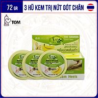 [72gr] Bộ 3 hũ kem nứt gót chân Banana Heel Cream   Hũ 24gr