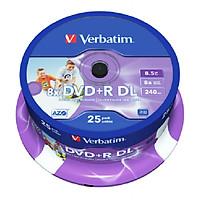 Đĩa Verbatim DVD+R DL 8.5GB 8X White Wide U 25psc - Hàng chính hãng