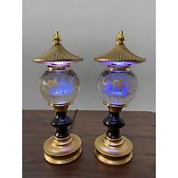 Đèn Thờ Phong Thủy Pha Lê Tháp Chữ Phật, hình cầu DTP