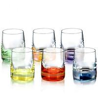 Bộ 6 ly uống rượu mạnh pha lê màu Tiệp khắc klaudie 060ml