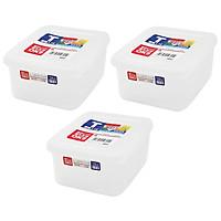 Bộ 03 hộp thực phẩm có giá lót Nakaya 1100ml hàng nội địa Nhật Bản K.230#