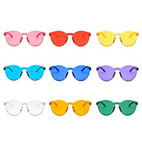 New Candy Color Transparent Frameless Resin And Pc Materials Trends Sunglasses