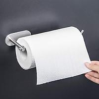 Móc Inox SUS304 treo khăn tắm, treo cuộn giấy dài dán tường gạch men có sẵn keo dán siêu dính không rỉ sét - HOBBY G10