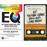 Combo 2 Cuốn Sách:  Kẻ Thành Công Phải Biết Lắng Nghe + EQ Trí Thông Minh Xúc Cảm Trong Công Việc