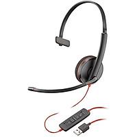Tai nghe chụp tai có dây  Plantronics BlackWire C3210 USB A/USB C - Hàng Chính Hãng