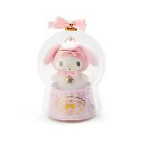 Sanrio Móc khóa búp bê trẻ em trang trí hình giai điệu Giáng sinh và ngôi sao trong quả cầu thạch anh màu hồng và trắng chủ đề Giáng sinh