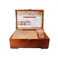 Hộp Đá Muối Massage Chân Himalaya Mặt Cong