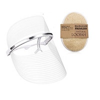 Mặt nạ ánh sáng Led Face Mask IME-0015 + Tặng bông tắm xơ mướp
