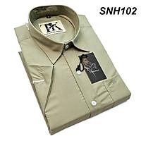 áo sơ mi trắng nam tay ngắn cotton mịn hàng siêu đẹp sơ mi nam có túi Thái Khang
