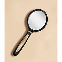 Gương cầm tay đen cán tròn vàng 23,7x6,6cm