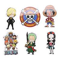 Set 6 Sticker Trang Trí - One Piece