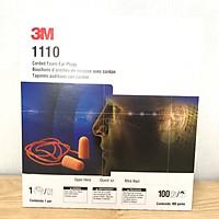 Nguyên hộp nút tai chống ồn 1110 3M gồm 100 cặp, loại có dây, nguyên tem của 3M, hàng chính hãng