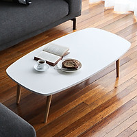 Bàn Trà Sofa B Table Nội Thất Kiểu Hàn - MDF Trắng (Size L)