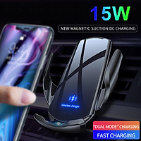 Wireless Car Charger,15W Qi Fast Charging Auto-Clamping Car Mount,Windshield Dash Air Vent Phone Holder Compatible with  11/11 Pro Max/Xs MAX