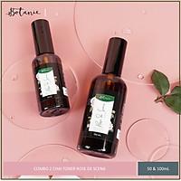 Combo 2 Chai Nước Hoa Hồng Dưỡng Ẩm Botanie Rose de Scena Toner- Dạng xịt, Không gây chứa cồn - 50ml và 100ml