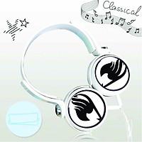 Tai nghe chụp in hình Fairy Tail - Hội Pháp Sư anime cắm dây có mic