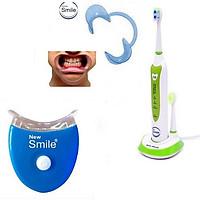 Bộ Bàn Chải Đánh Răng Điện New Smile Sonic MAF8101-XL Tặng 1 Đèn LED +Kẹp Răng