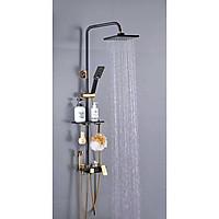 Bộ Sen vòi tắm Điều chính LED nhiệt độ Hiển thị số Tcare Ống Tròn - Hàng chính hãng