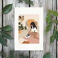 Tranh Poster Phong cách tối giản, Bohemian, Lady, Lifestyle, Fashion, Minimalism, Pastel, SOYN PTK001