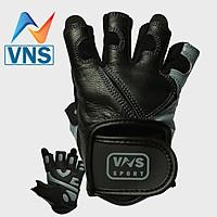 Găng Tay Da Tập Gym VNS001, Găng Tay Da Chạy Xe Cao Cấp (Wejght Lifting Gloves - Professional)