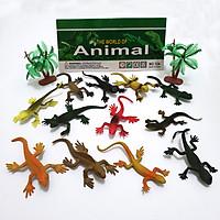 Bộ 12 Đồ Chơi Tắc Kè Safari Hoang Dã (dài 8 cm) bằng nhựa mềm và được đóng bịch rất an toàn, nhiều màu sắc giống như thật cho bé vui chơi và thỏa sức tưởng tượng
