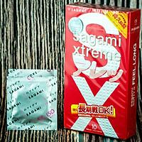 Hộp 10 Cái Bao Cao Su SAGAMI Xtreme Feel Long - Mẫu Mới - MADE IN JAPAN - Hàng Chính Hãng