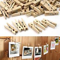 Combo 50 kẹp gỗ treo ảnh kèm 10m dây thừng