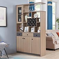 Tủ rượu màu ghi xám - Nội thất phòng khách (kt 190x120x33cm)