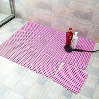 Combo 12 sàn nhựa ghép chống trơn nhà vệ sinh, ban công kích thước 30cm x 30cm