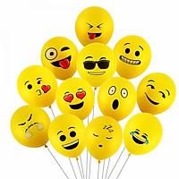 12 bong bóng cao su biểu tượng cảm xúc
