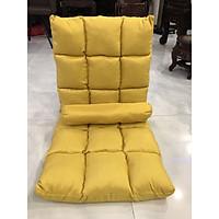 Ghế lười, ghế thư giãn, ghế ngồi bệt tựa lưng 5 cấp độ( size lớn )-Vàng