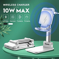 10W Fast Wireless Charger Stand Qi Charging Dock for iPhone 8 X XR 11/11 Pro Max