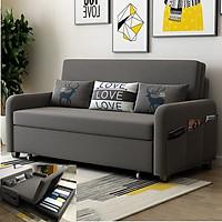 Sofa giường thông minh, A2671 dài 192cm x rộng 190cm x cao 38cm, giường khung thép có ngăn chứa đồ phía dưới, đệm mút cao su có thể tháo rời, giường sofa đa năng tặng kèm 3 gối