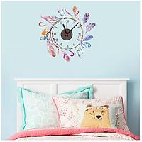 Đồng hồ treo tường kèm decal trang trí nhẹ nhàng, dễ thương phong cách Bắc Âu AmyShop DDH011