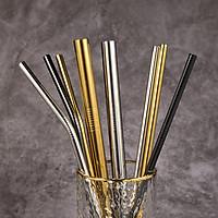 Ống Hút Inox 304 (Ống Hút Thép Không Rỉ) - Nhiều Màu Tùy Chọn, Tặng Cọ Rửa