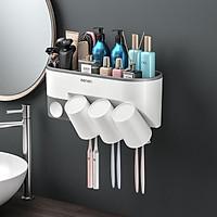 Kệ Phòng Tắm OENON, Kệ Để Bàn Chải Kem Đánh Răng Nhà Tắm Kèm Cốc Lắp Đặt Dán Tường Gạch Men - OE041