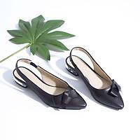 Giày Búp Bê Hở Gót 2cm Gắn Nơ Màu Kem Pixie P240