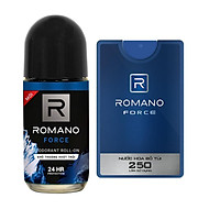Combo Romano Force:  Nước hoa bỏ túi 18ml Và lăn khử mùi Cho Nam 50ml