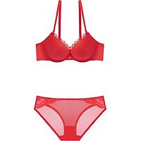 Bộ đồ lót  Marguerite Paris 33048-02041 cúp chéo rãnh 3 múi, siêu nâng ngực tạo khe nhiều màu