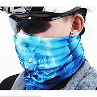 Bộ 3 Khăn Đi Phượt Đa Năng kiêm khẩu trang, mặt nạ,khăn dã ngoại- 206311(màu ngẫu nhiên)