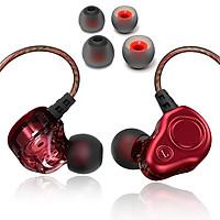Tai Nghe Wutsun S200 Stereo Earphone Sport (Đỏ) + Tặng Đệm Nhét Tai Thay Thế - Hàng Chính Hãng